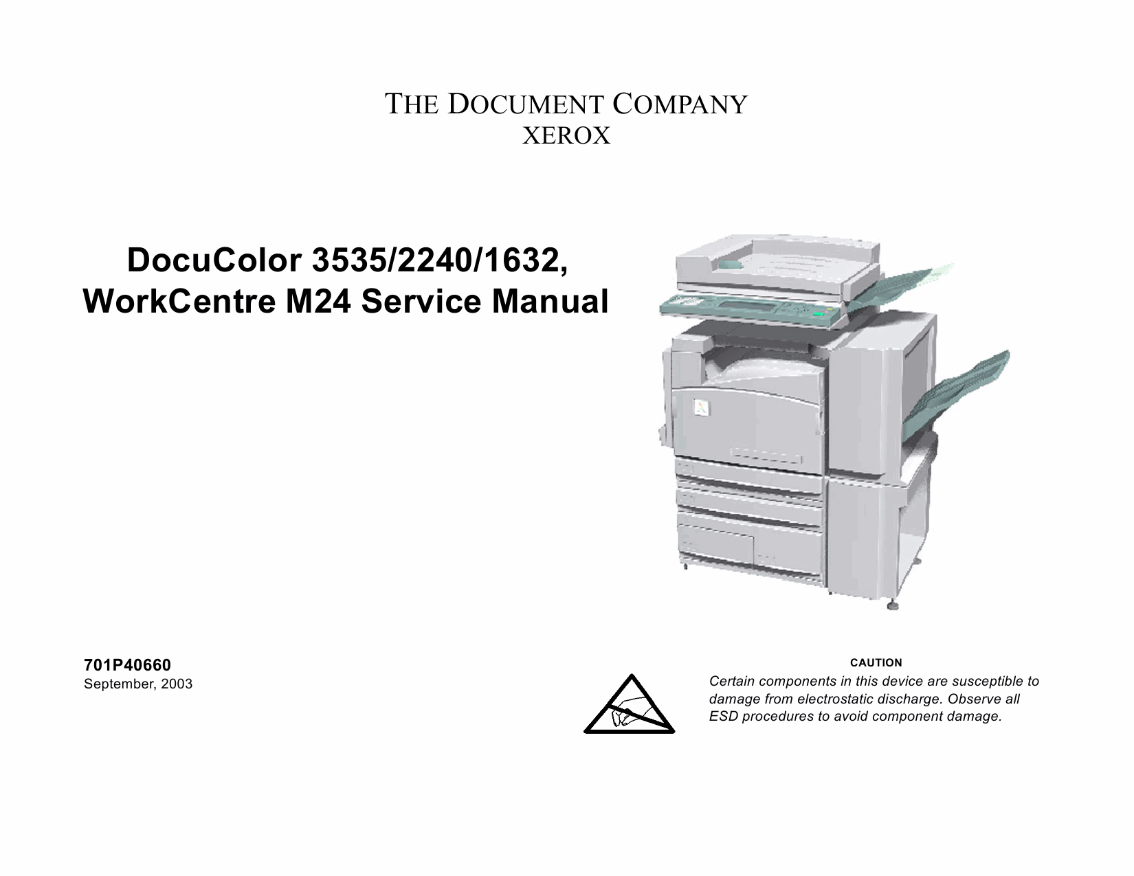 Xerox WorkCentre M24 DocuColor-3535 2240 1632 Parts List and Service Manual-1